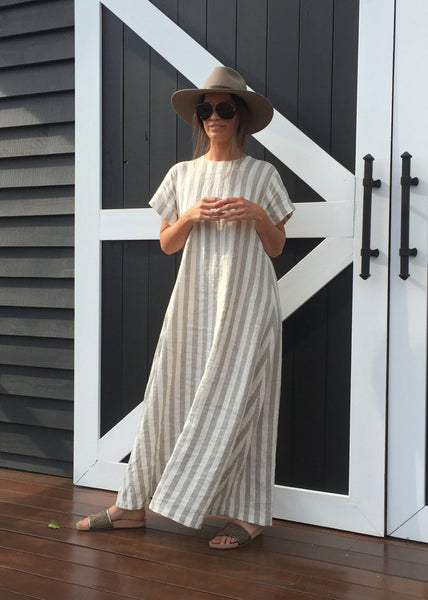 Hamptons Wide Stripe Mid and Full Length Dresses
