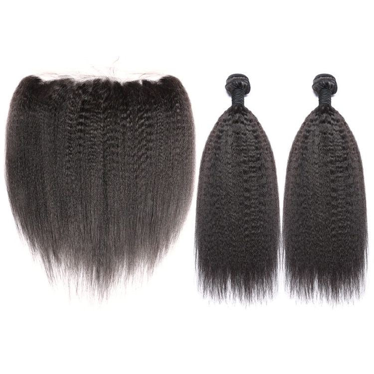 Kinky Straight Frontal Bundle