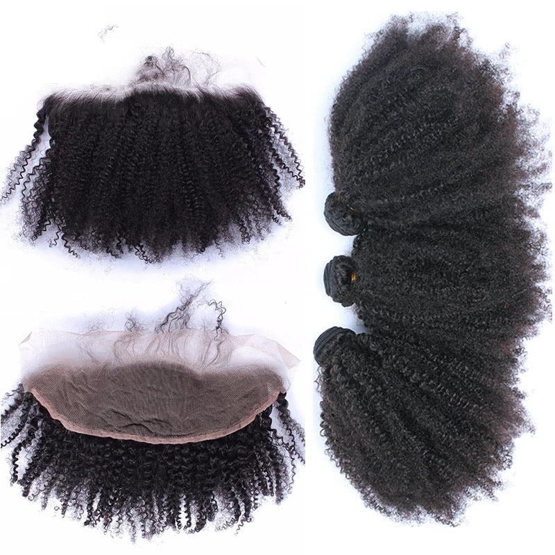 Kinky Curly Frontal Bundle