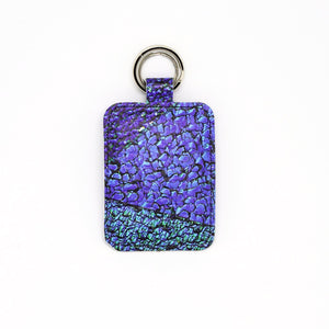 Electric Blue Leather Keyring