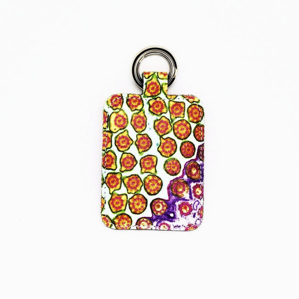 Strawberry Fields Leather Keyring