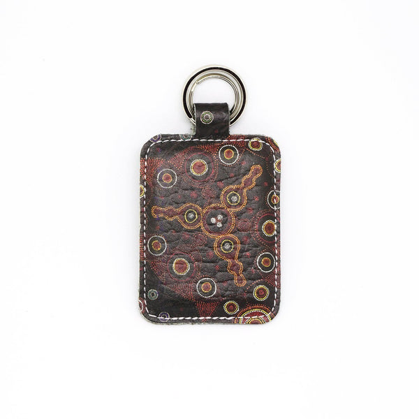 Tangerine Dream Leather Keyring