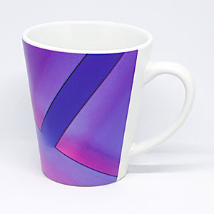 Purple Parallax Latte Mug