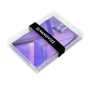 Purple Parallax Bag Tag