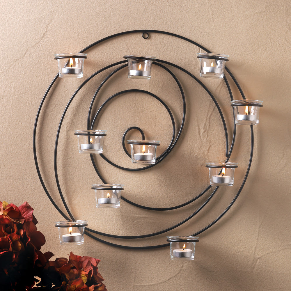 Black Iron Modern Candle Holder - InStyle Walls LLC