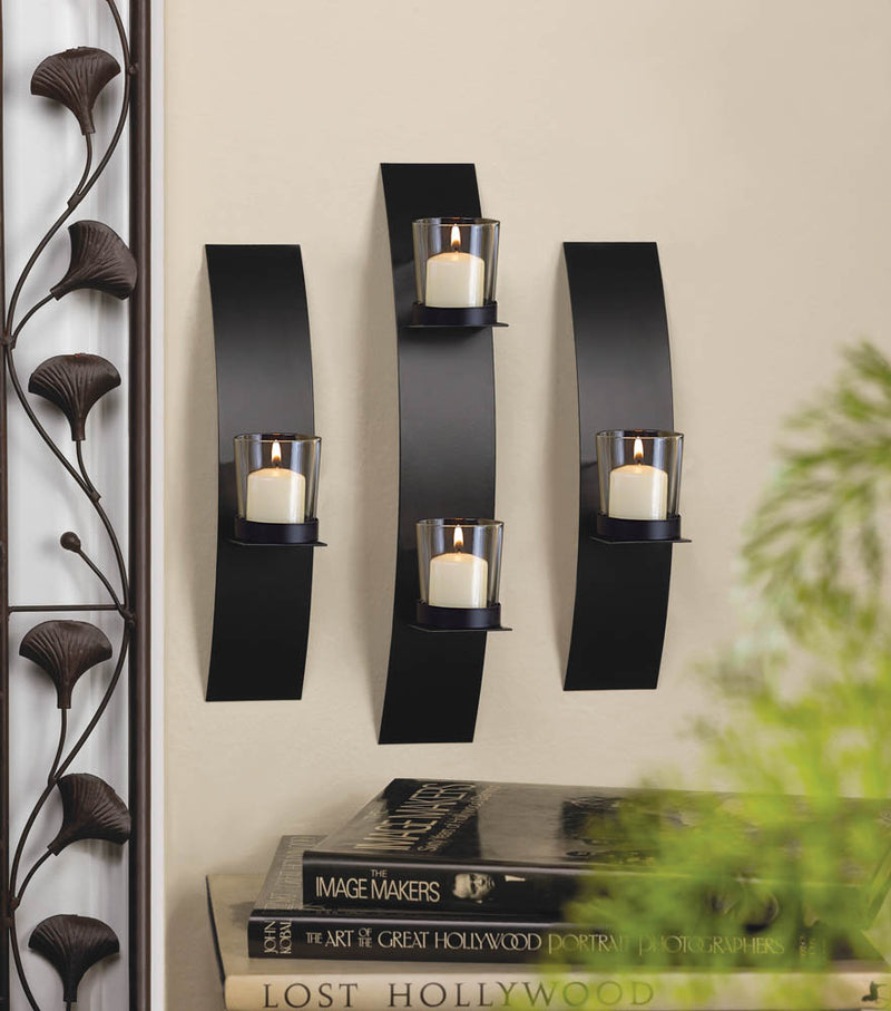 Contemporary Wall Sconce Trio - InStyle Walls LLC