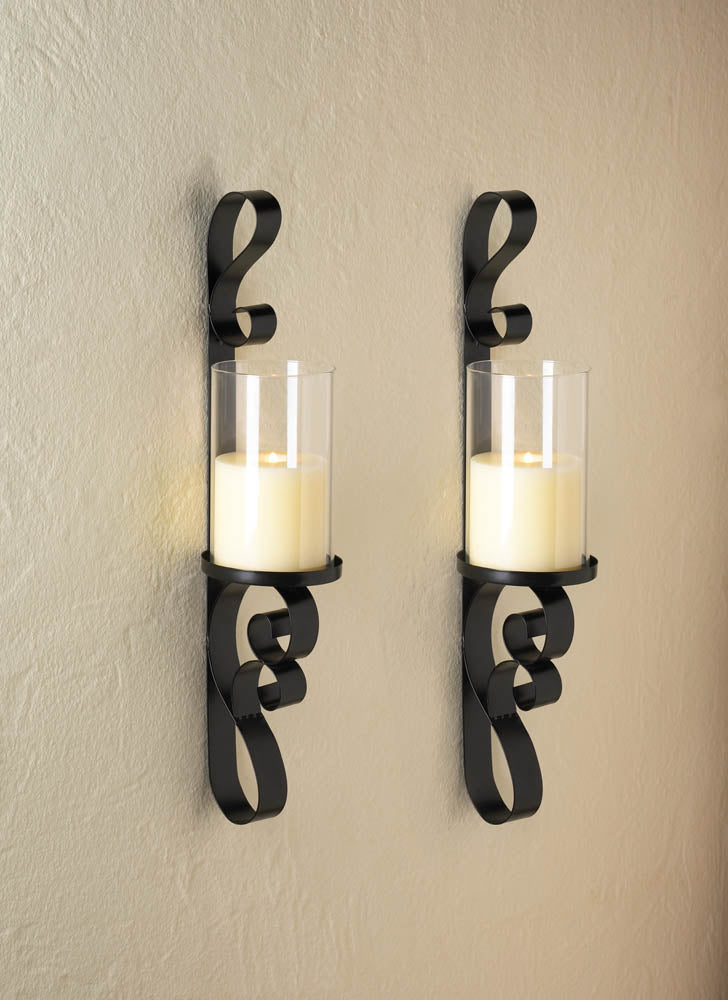 Ornate Candle Sconce Duo - InStyle Walls LLC