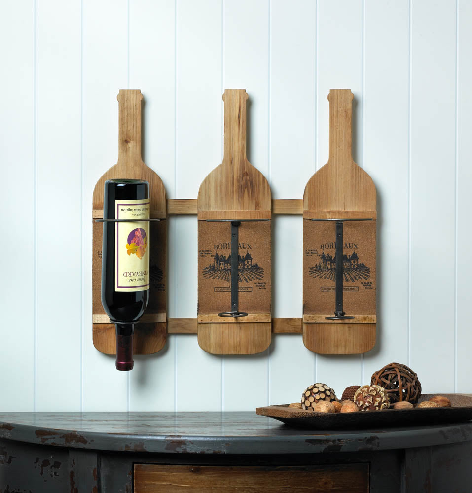 Bordeaux Wooden Wine Bottle Holder - InStyle Walls LLC