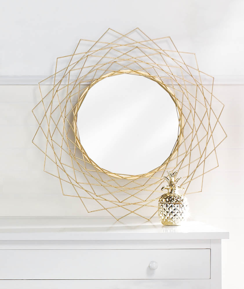 Golden Geometric Wall Mirror - InStyle Walls LLC