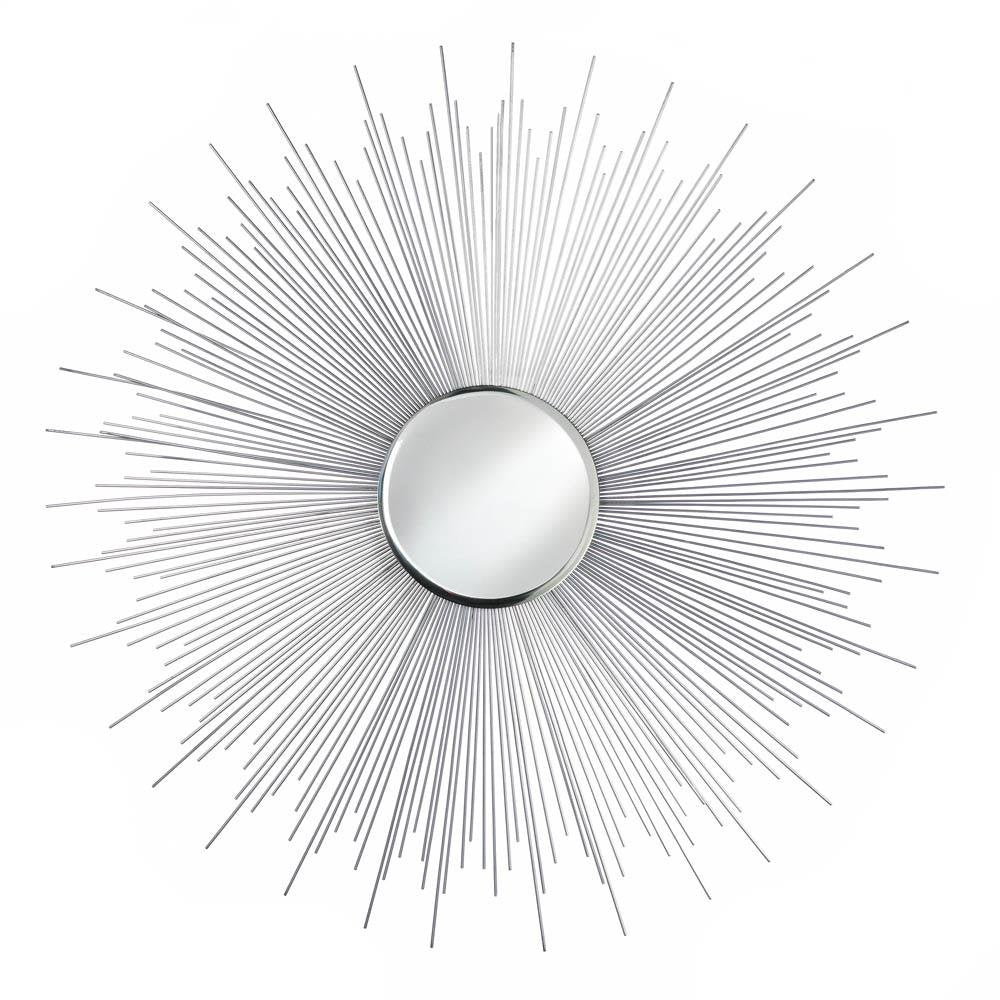 Silver Rays Decorative Wall Mirror - InStyle Walls LLC