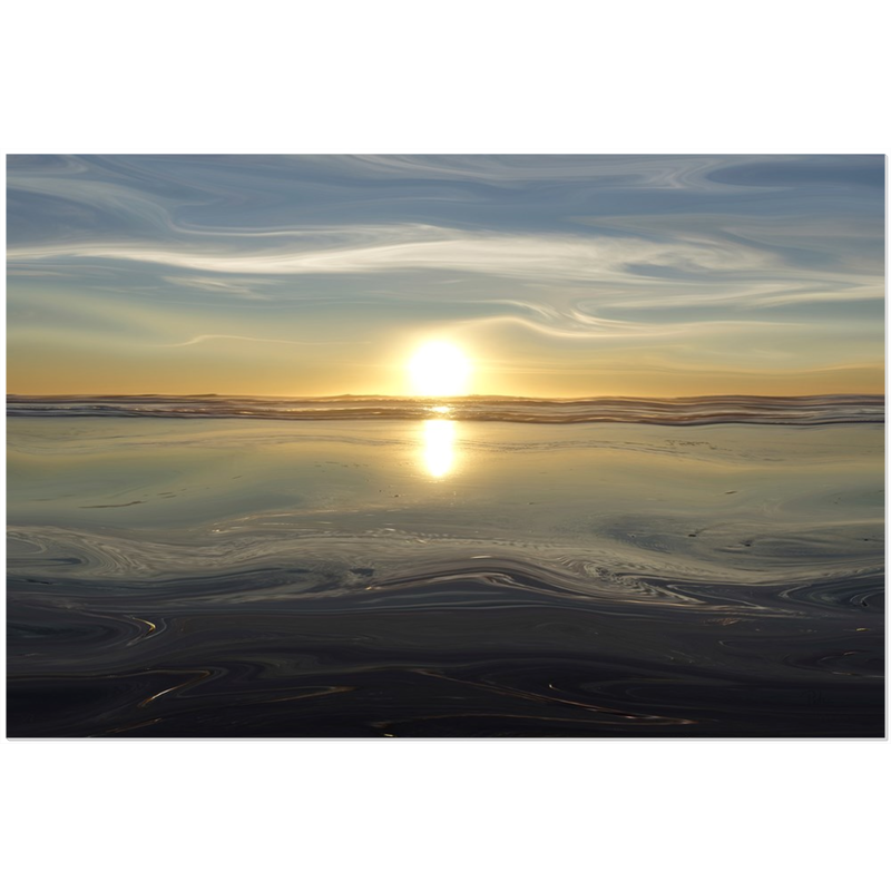 Ocean Sunset Acrylic Print - InStyle Walls LLC