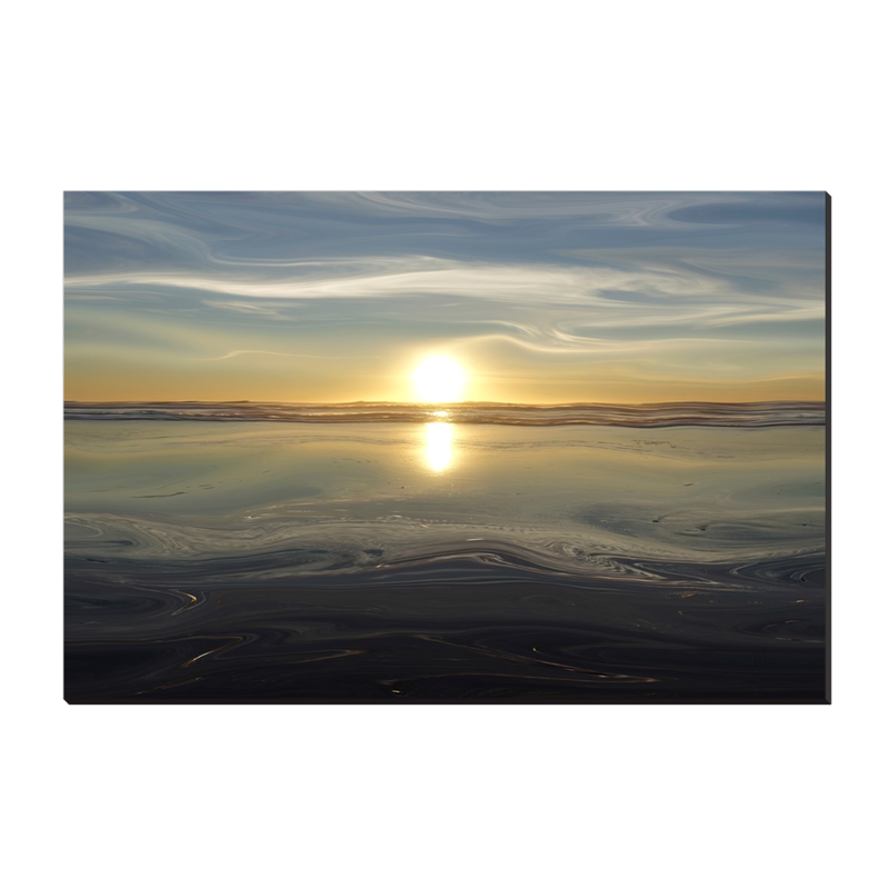 Ocean Sunset Canvas Wrap - InStyle Walls LLC