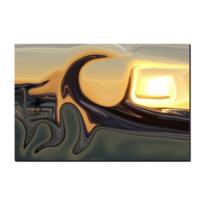 Sunset surf Canvas Wrap - InStyle Walls LLC