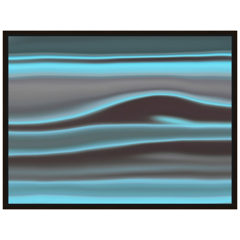 Teal Clouds I Framed Canvas - InStyle Walls LLC