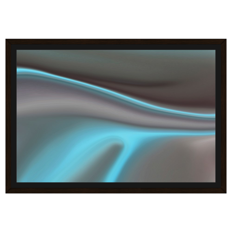 Teal Clouds II Framed Canvas - InStyle Walls LLC