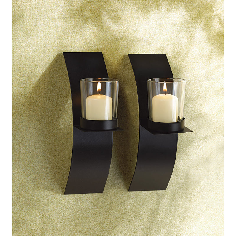 Modern Art Candle Sconce Duo - InStyle Walls LLC