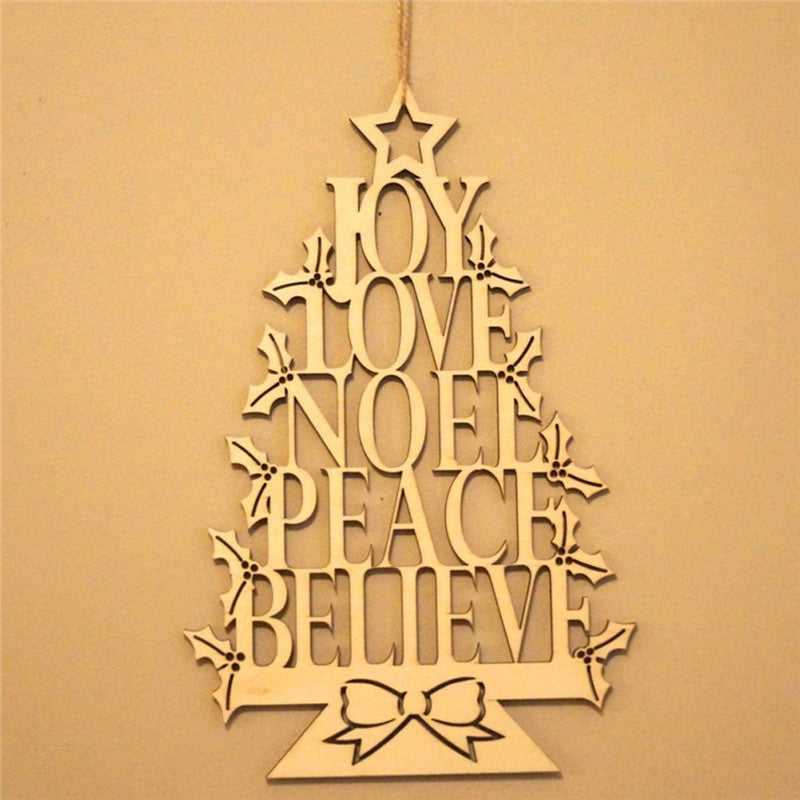 Christmas Wooden Tree Hanging Wall Decoration - InStyle Walls LLC