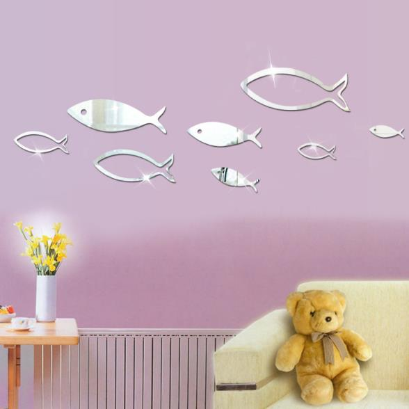 3D Fish Shape Mirror Wall Stickers - InStyle Walls LLC