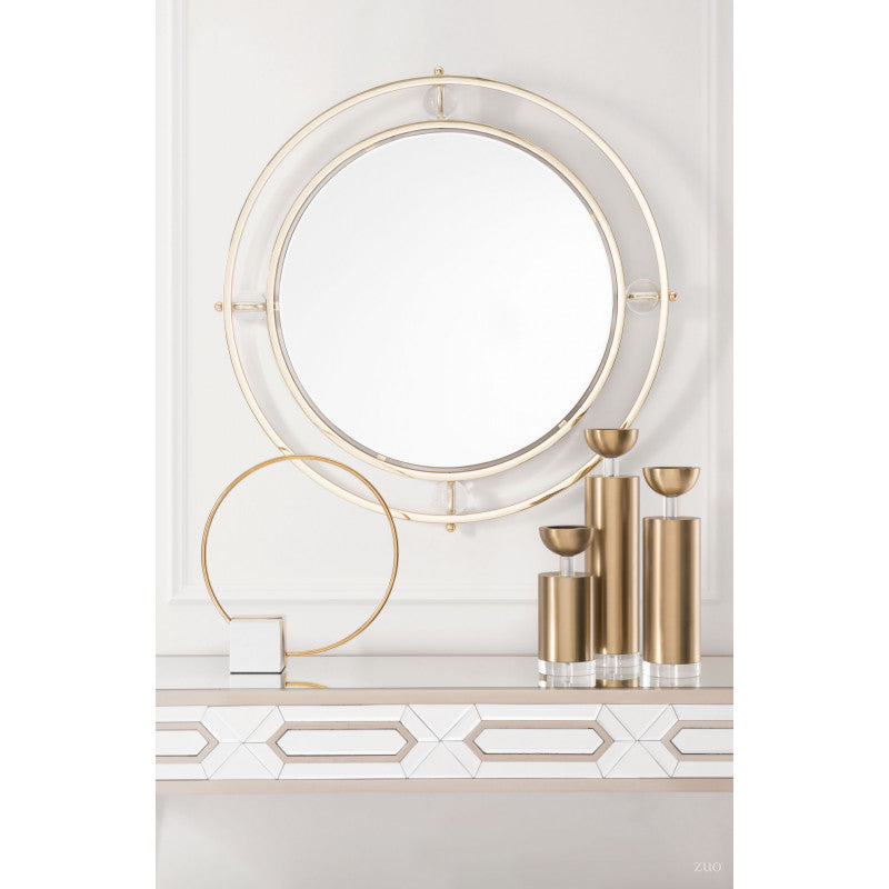 Floating Round Lucite Mirror - InStyle Walls LLC