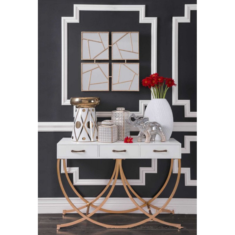 Four Faces Mirror Gold - InStyle Walls LLC