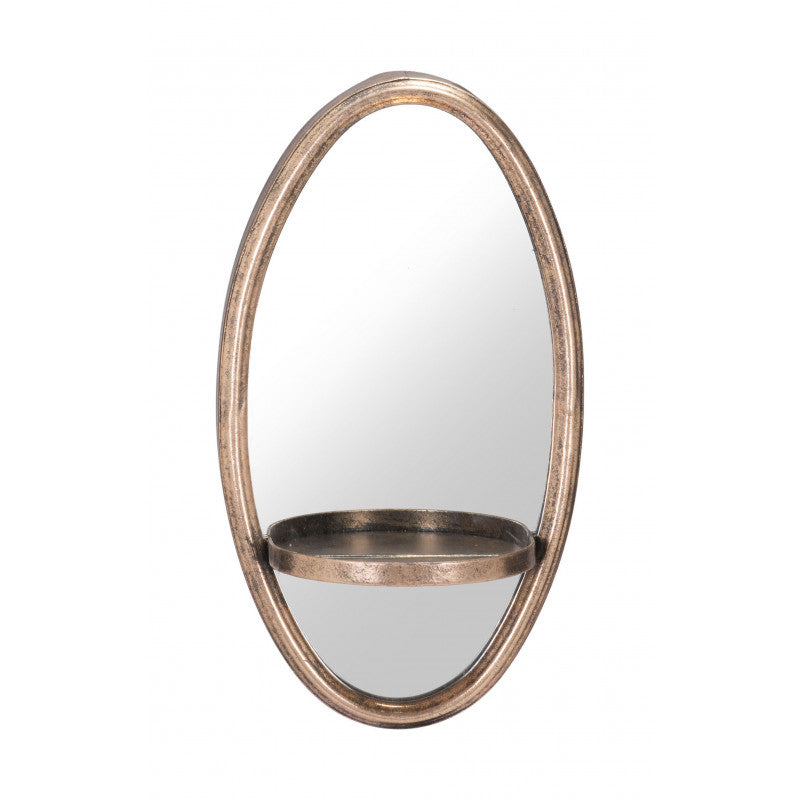 Petite Ogee Mirror & Shelf Gold - InStyle Walls LLC