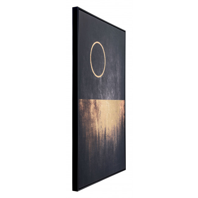 Full Moon Rises Canvas Black & Gold - InStyle Walls LLC