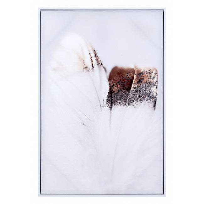 Delicate Feather Canvas Multicolor - InStyle Walls LLC