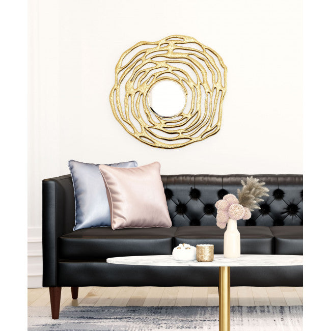 Aqua Round Mirror Gold - InStyle Walls LLC