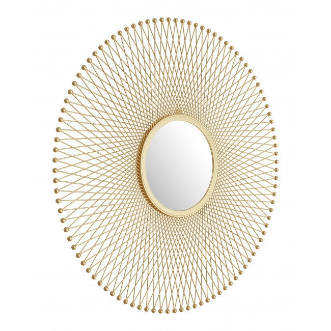 Glow Round Mirror Gold - InStyle Walls LLC