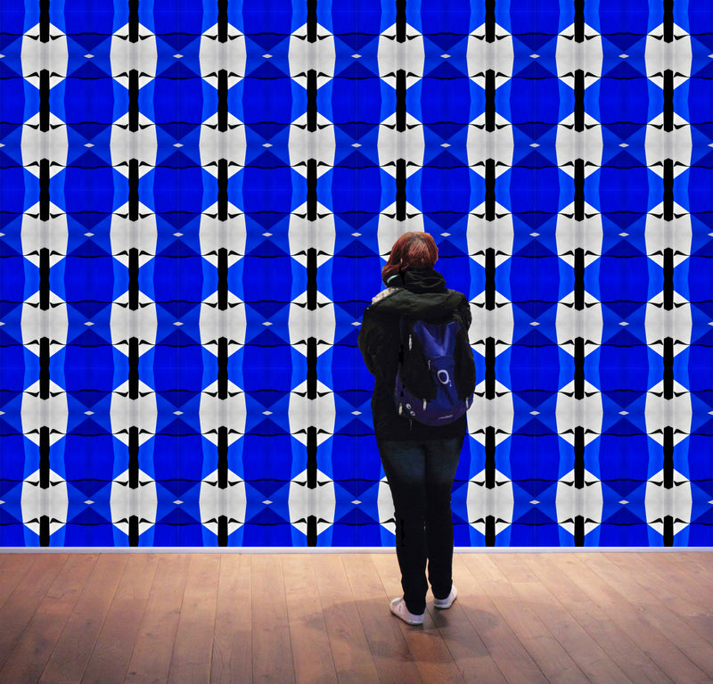 Blue Geometry Wallpaper - InStyle Walls LLC