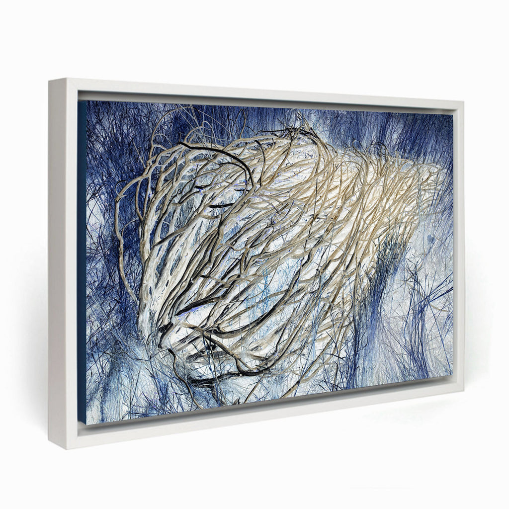 Blue Tumbleweed Framed Canvas - InStyle Walls LLC