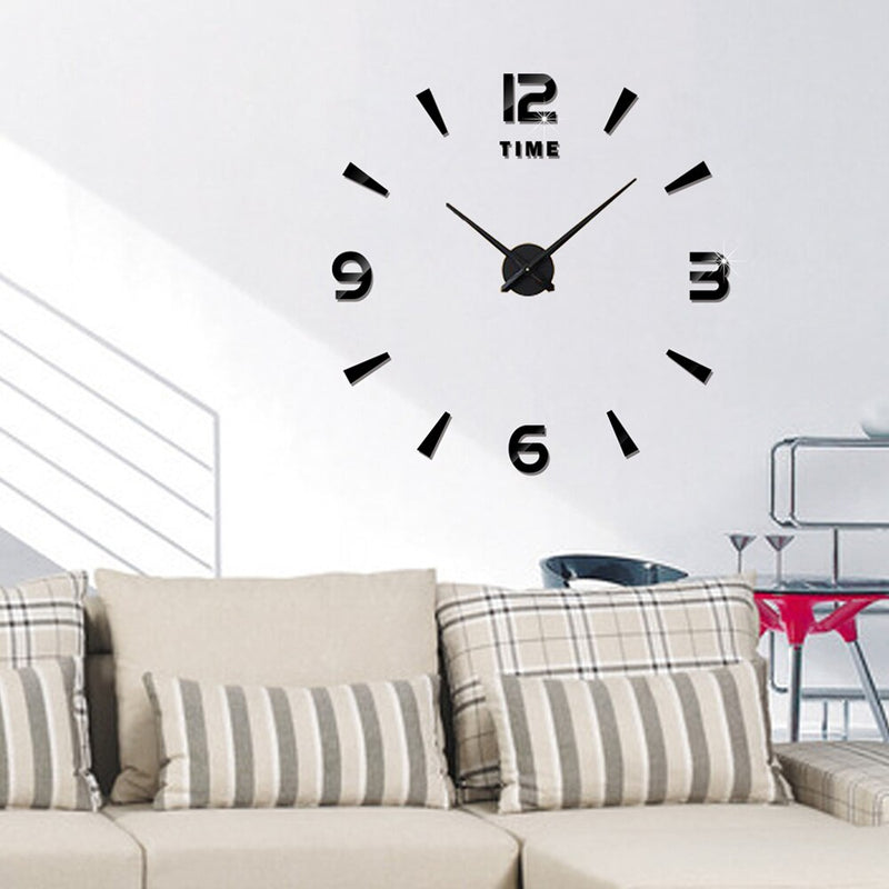 Retro double-sided metal wall clock