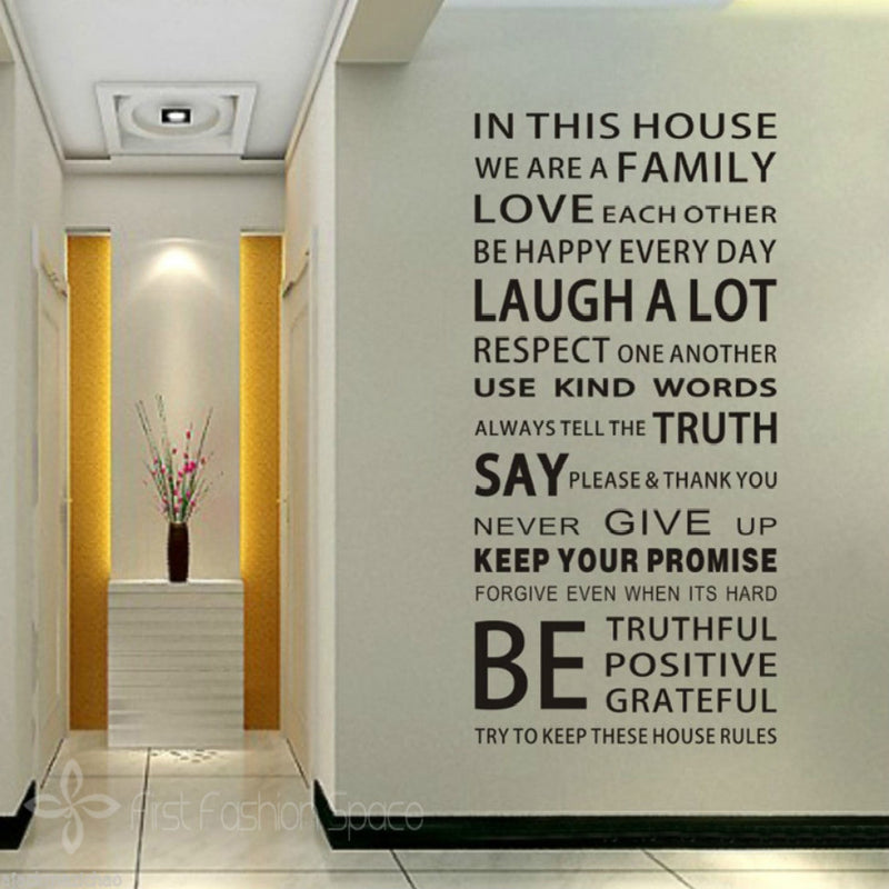 We Are a Family Quote Wall Stickers - InStyle Walls LLC