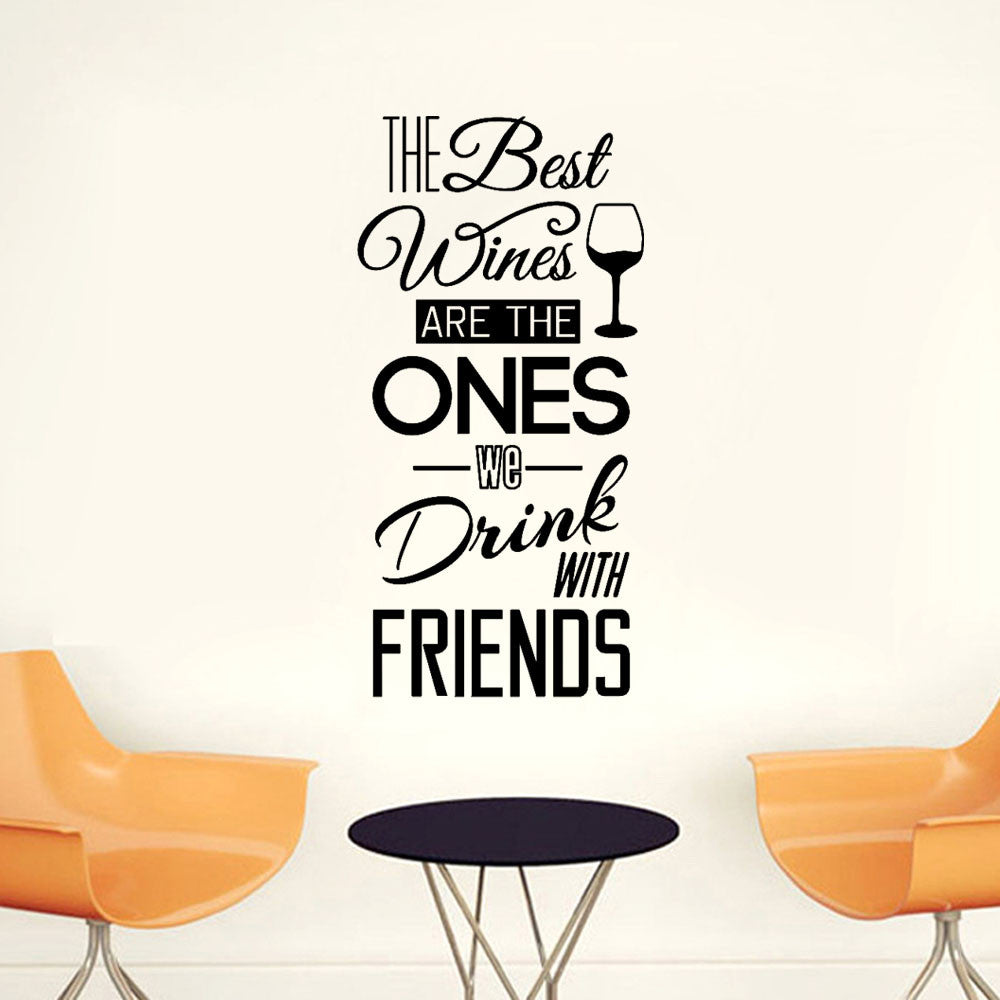 The Best Wines Quote Wall Stickers - InStyle Walls LLC