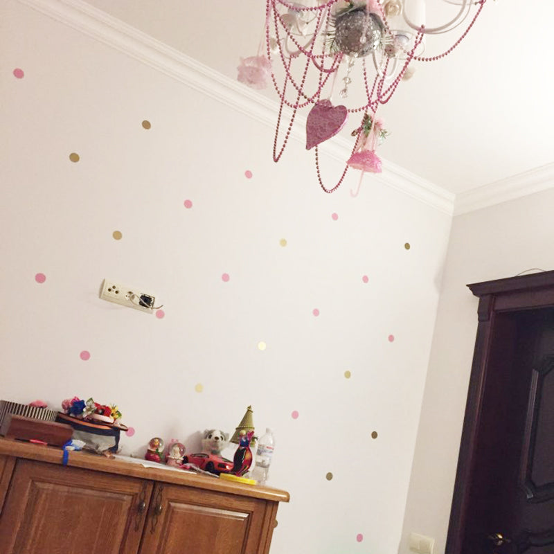 Multi-color Polka Dots Wall Stickers - InStyle Walls LLC
