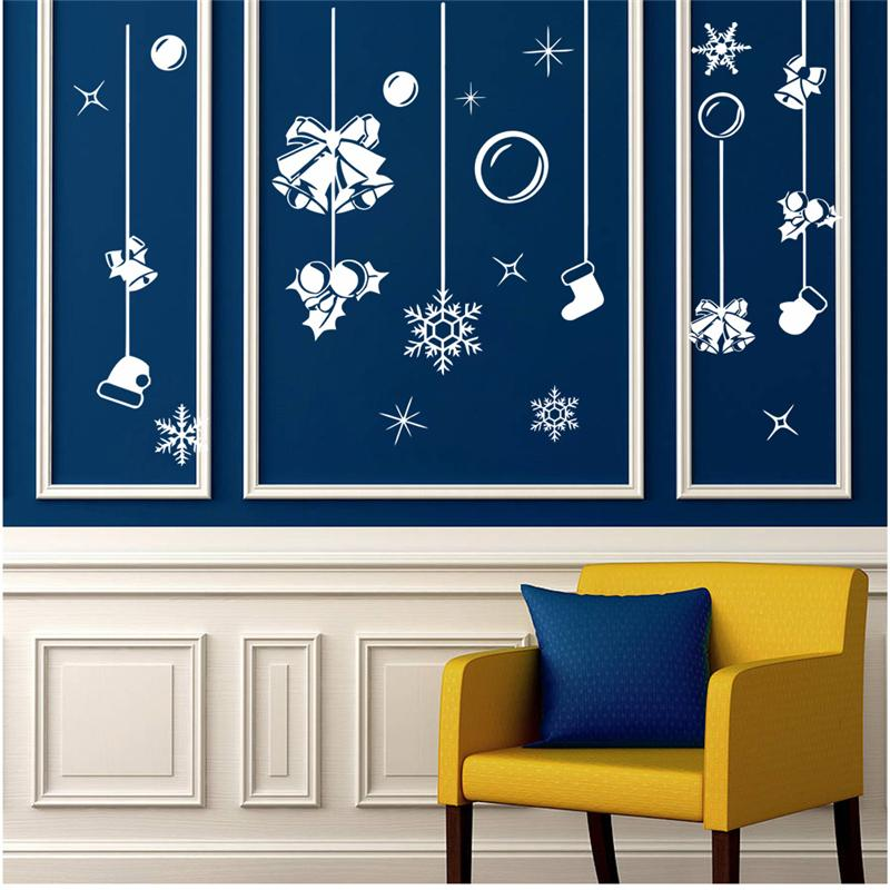 Holiday bells socks wall art stickers - InStyle Walls LLC