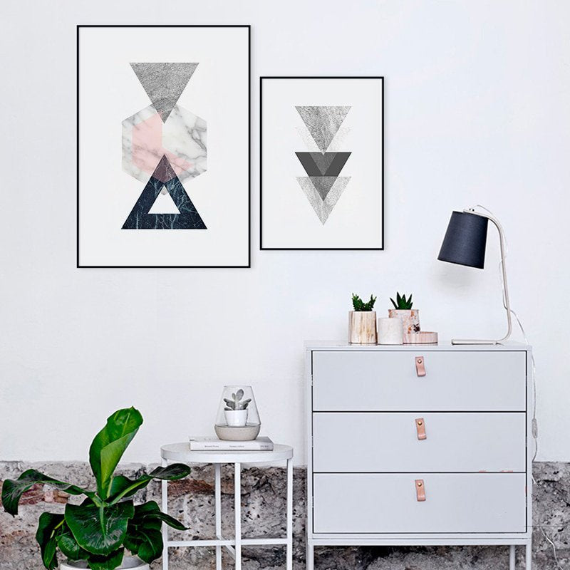 Nordic Style Geometric Canvas Art - InStyle Walls LLC