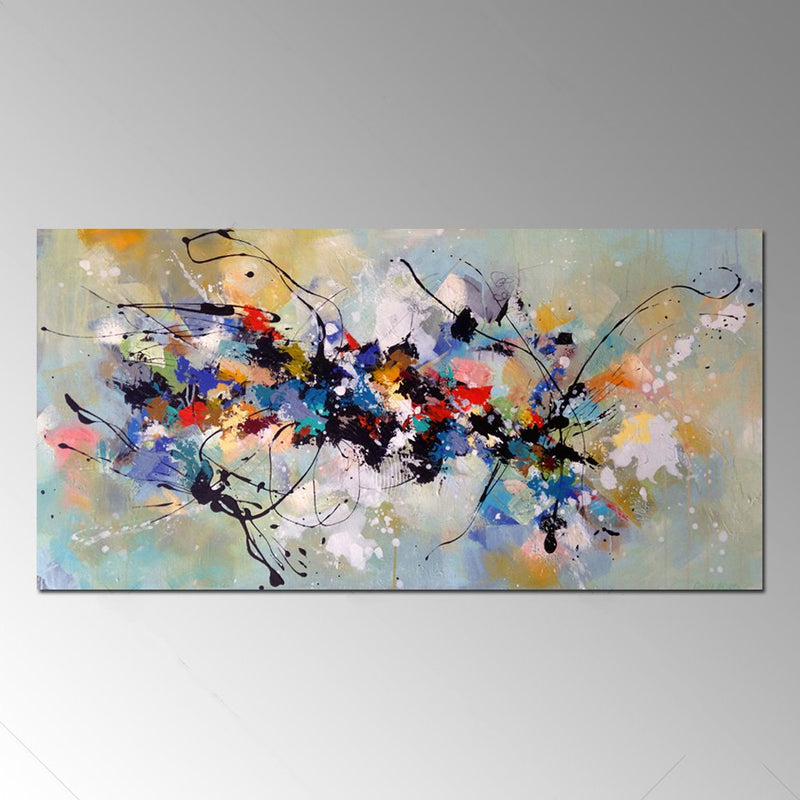 Abstract Colorful Canvas Art - InStyle Walls LLC
