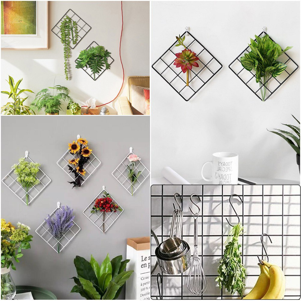 Nordic Style Wall Metal Grid Photos & Postcards - InStyle Walls LLC