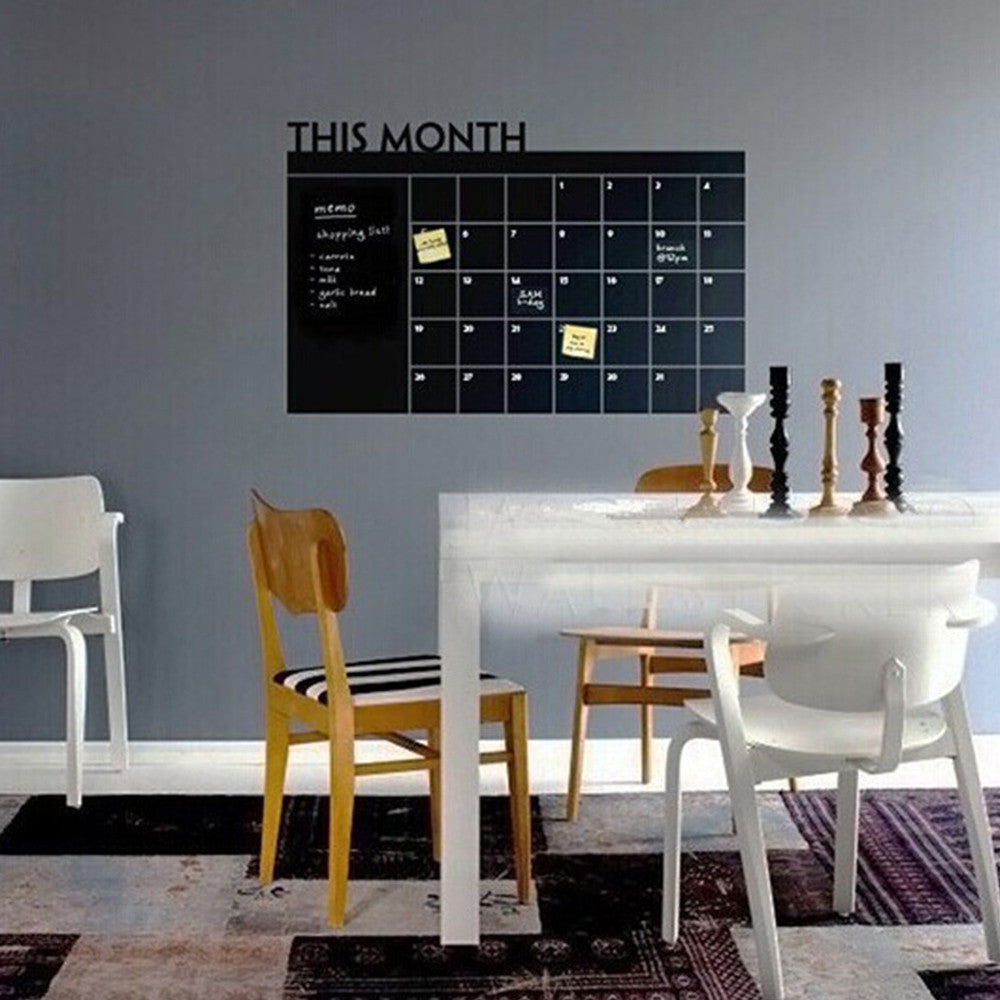 Monthly Chalk Board Wall Sticker - InStyle Walls LLC