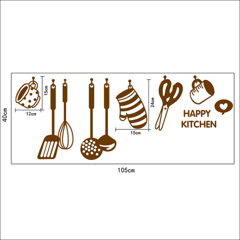 Happy Kitchen Wall Stickers - InStyle Walls LLC