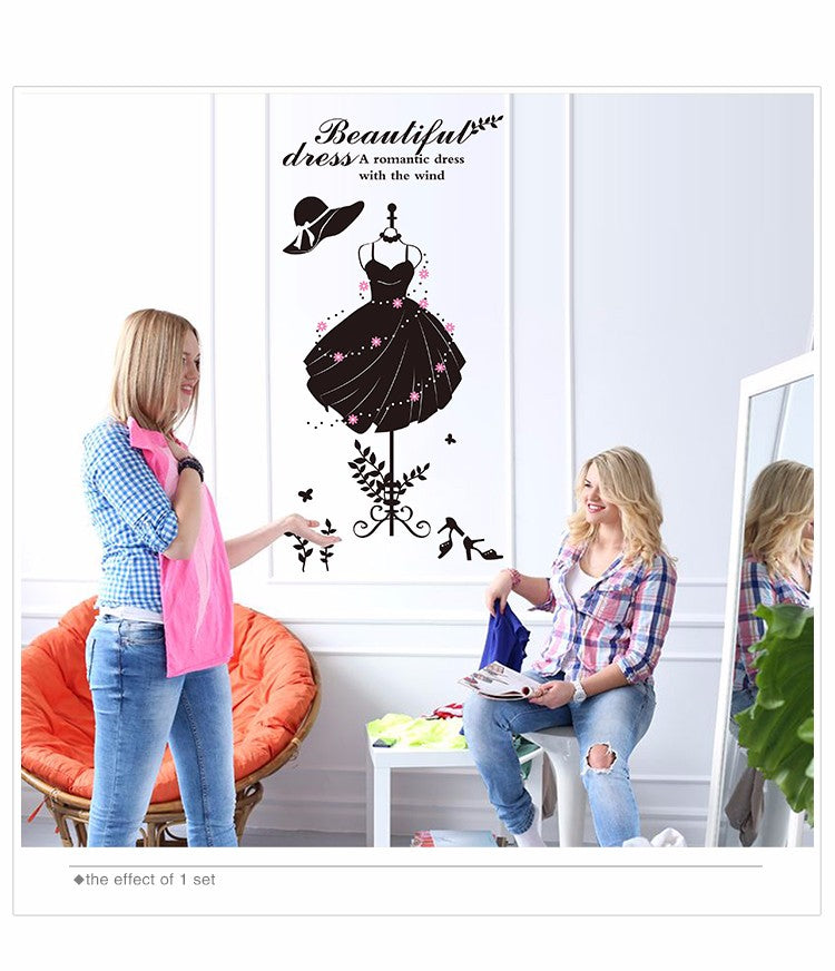 Girl's Wardrobe Wall Stickers - InStyle Walls LLC