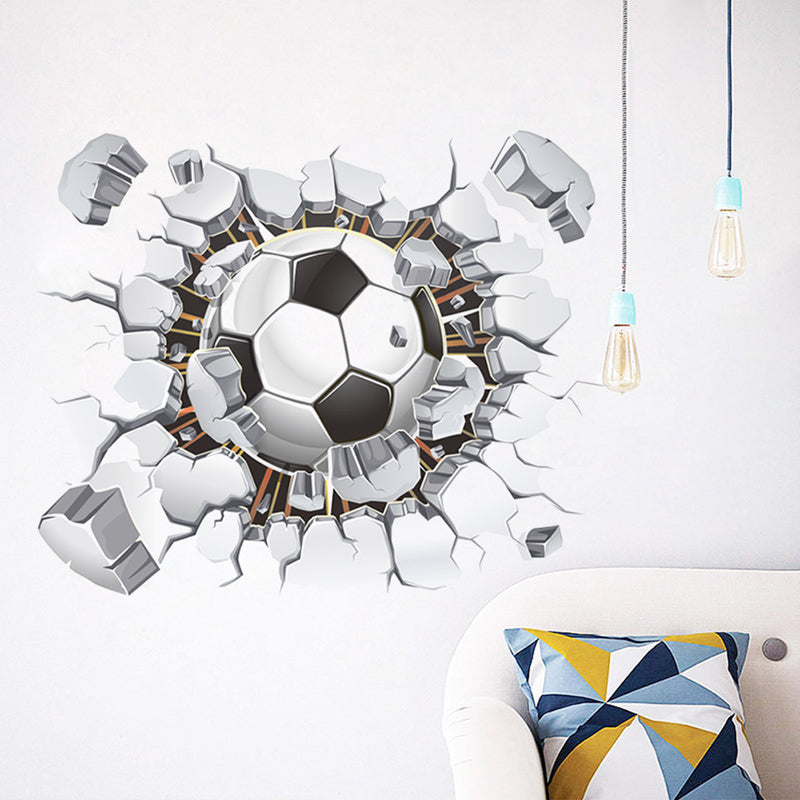 Creative Soccer Broken Wall Decals - InStyle Walls LLC