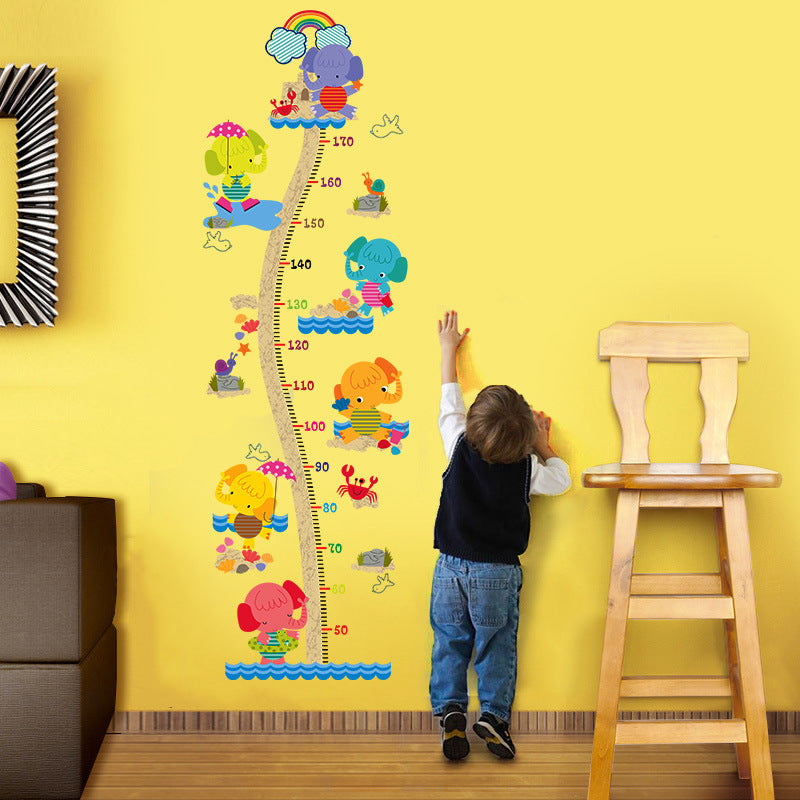 Elephants Height Measure Ruler Wall Stickers - InStyle Walls LLC