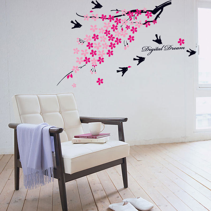 Flower tree wall decal decor - InStyle Walls LLC