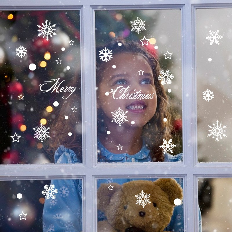 Winter Snowflakes Christmas Wall Stickers Decorations - InStyle Walls LLC