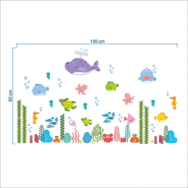 Underwater Sea Fish Wall Stickers - InStyle Walls LLC