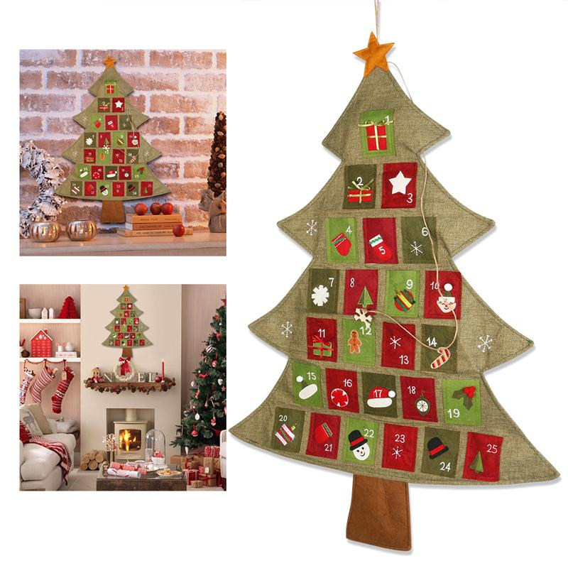 Christmas Tree Advent Calendar Wall Hanging - InStyle Walls LLC