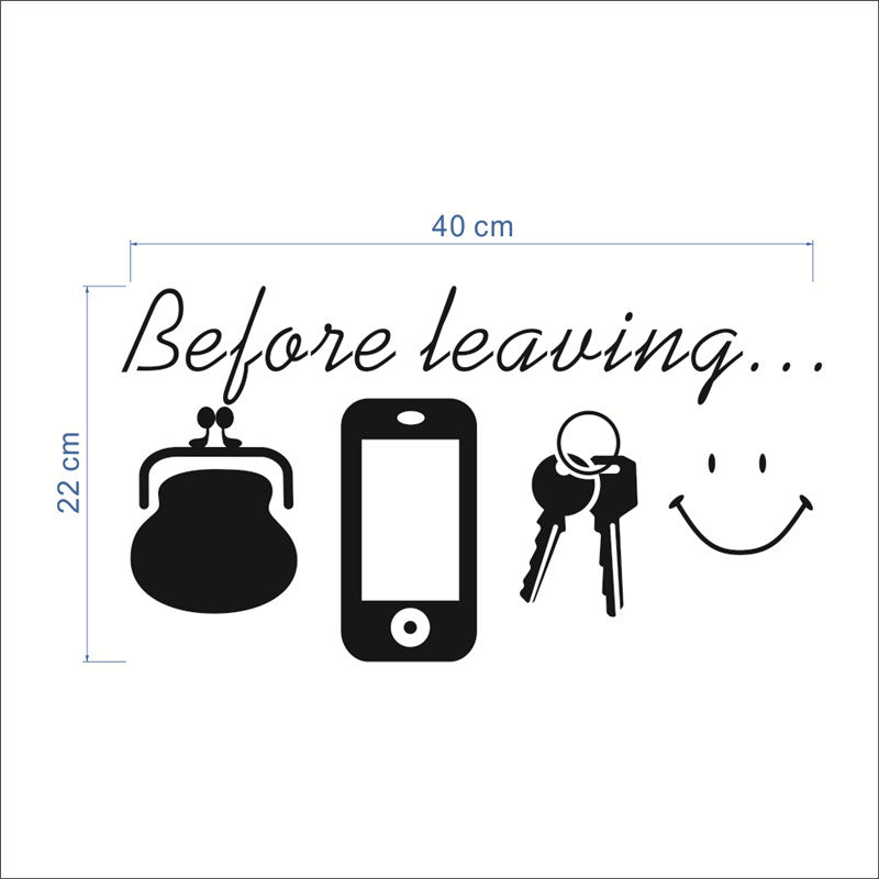 Before Leaving Reminder Wall Stickers - InStyle Walls LLC