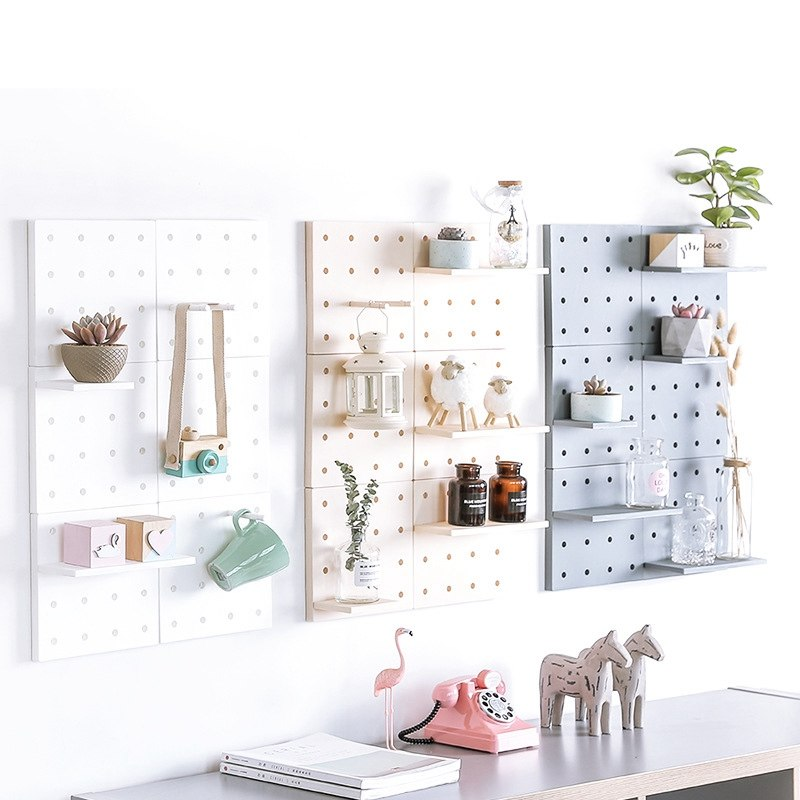Decorative panel storage wall shelf - InStyle Walls LLC